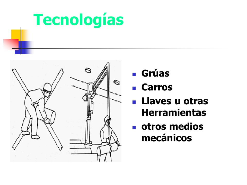 Tecnologías apropiadas para levantar peso