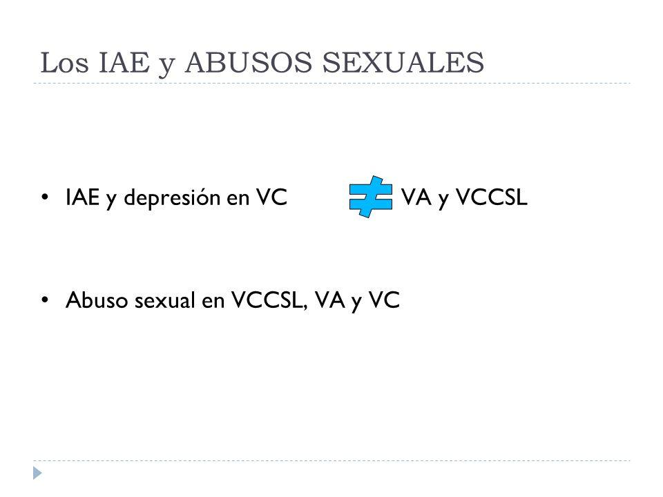 Los IAE y ABUSOS SEXUALES