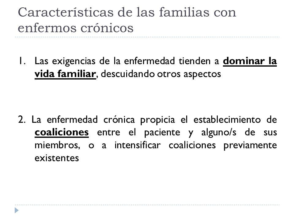 Características de las familias con enfermos crónicos