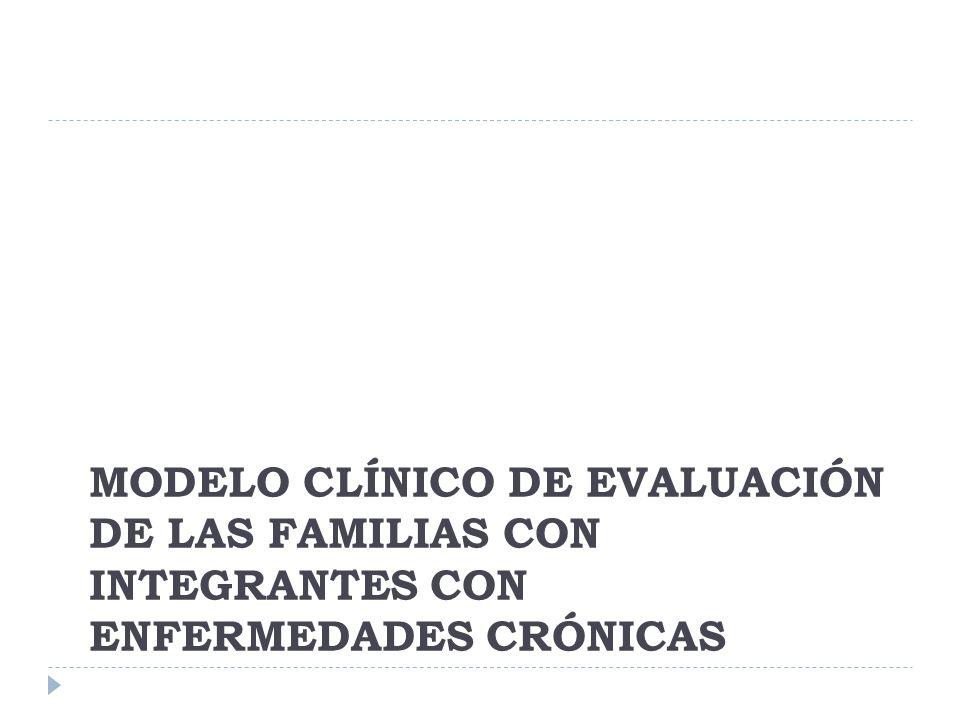 MODELO CLÍNICO DE EVALUACIÓN DE LAS FAMILIAS CON INTEGRANTES CON ENFERMEDADES CRÓNICAS