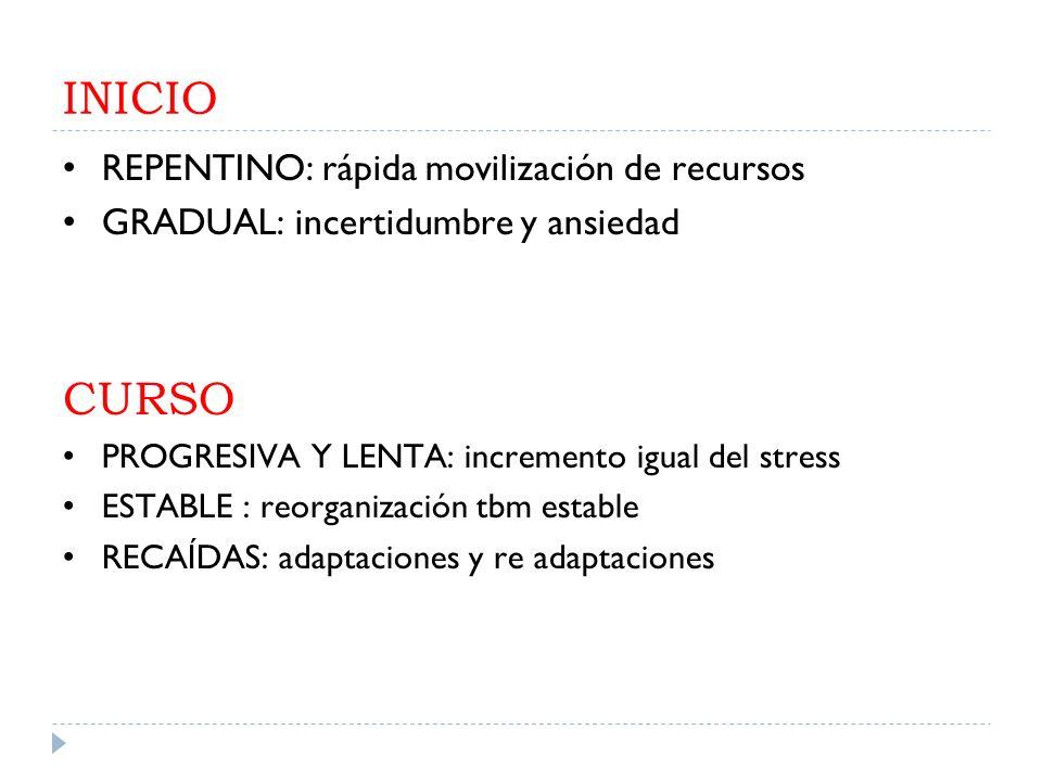 INICIO CURSO REPENTINO: rápida movilización de recursos