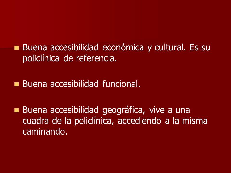 Buena accesibilidad económica y cultural