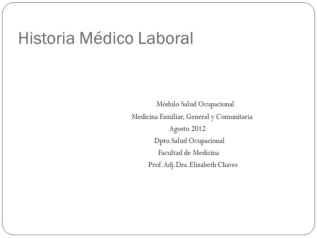Historia Médico Laboral