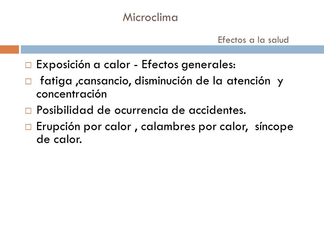 Microclima Efectos a la salud