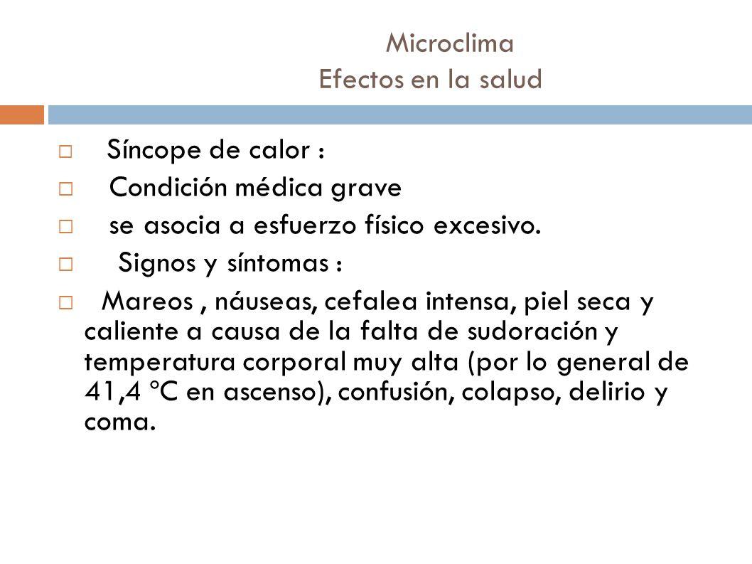 Microclima Efectos en la salud