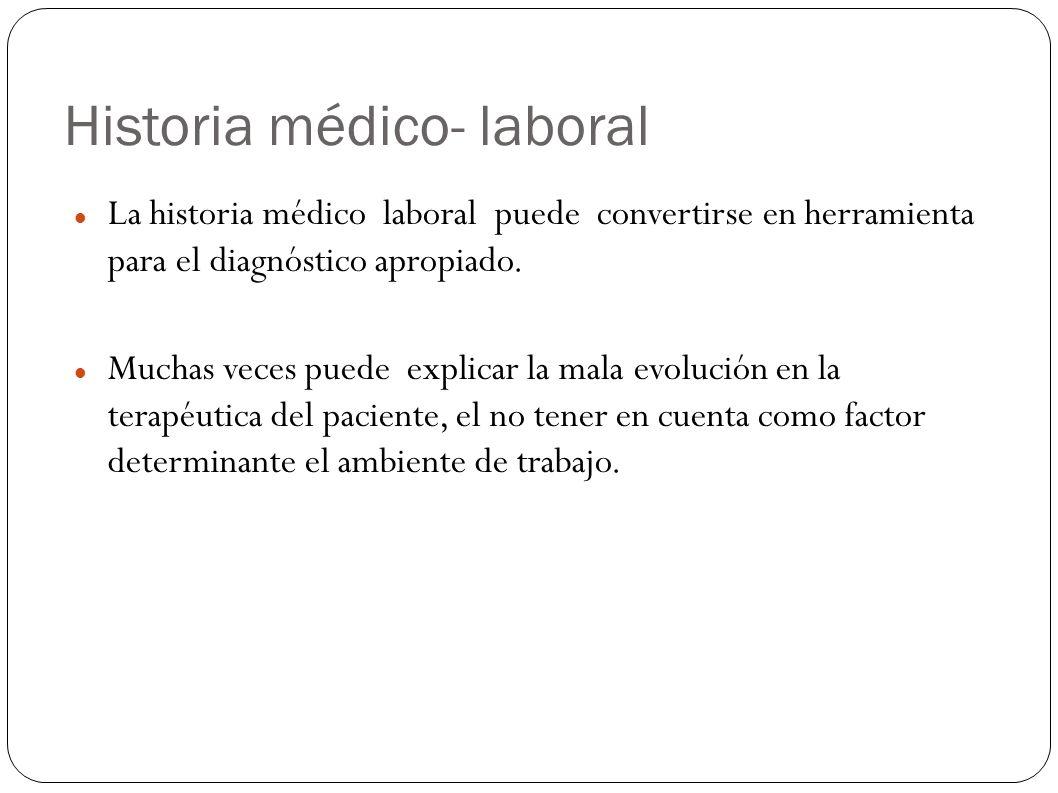 Historia médico- laboral