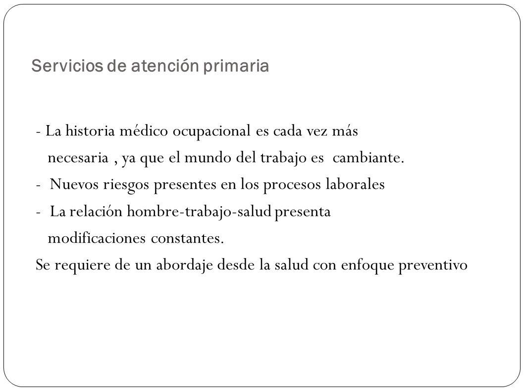 Servicios de atención primaria