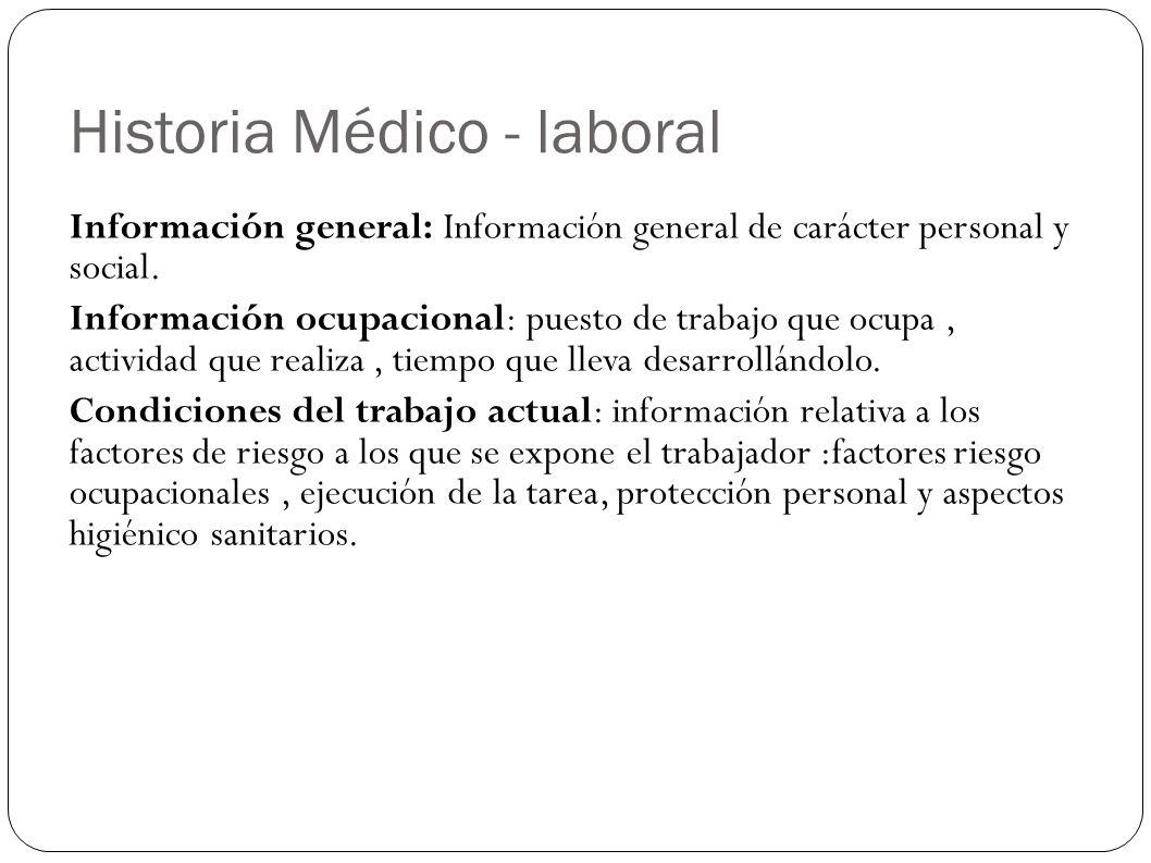 Historia Médico - laboral