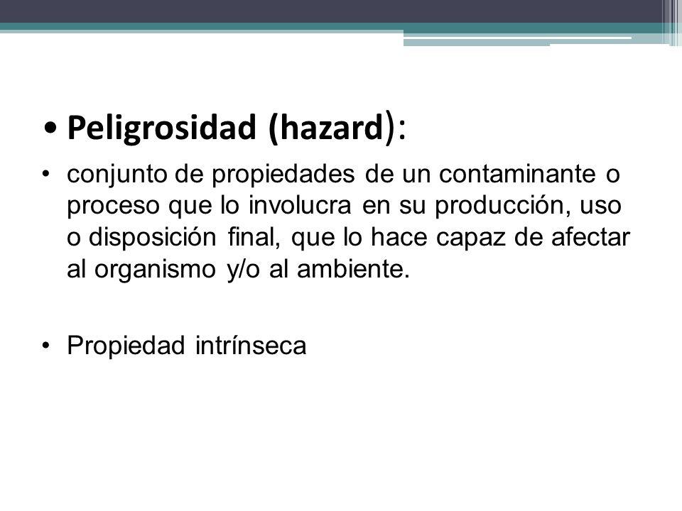 Peligrosidad (hazard):