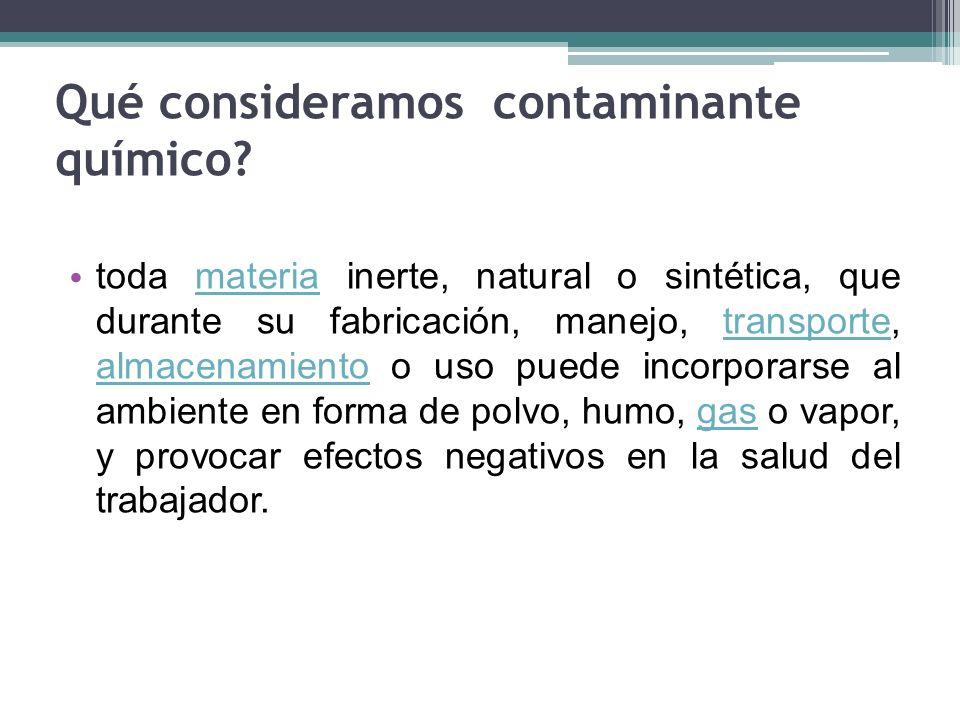 Qué consideramos contaminante químico
