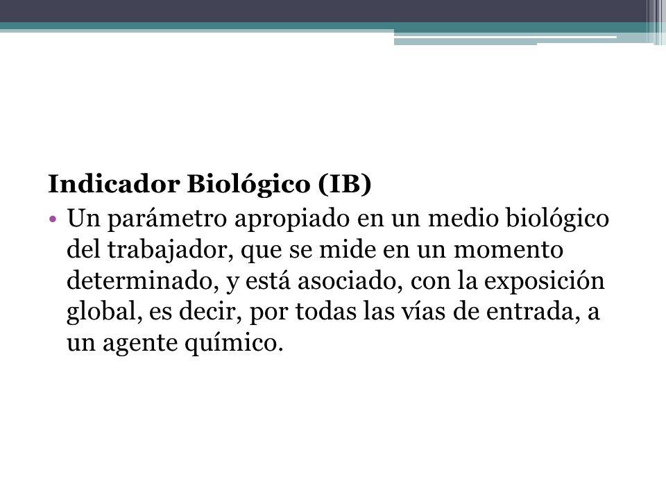 Indicador Biológico (IB)
