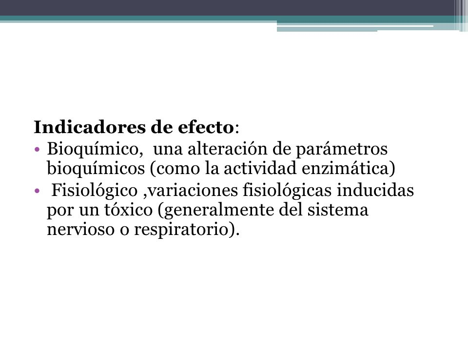 Indicadores de efecto: