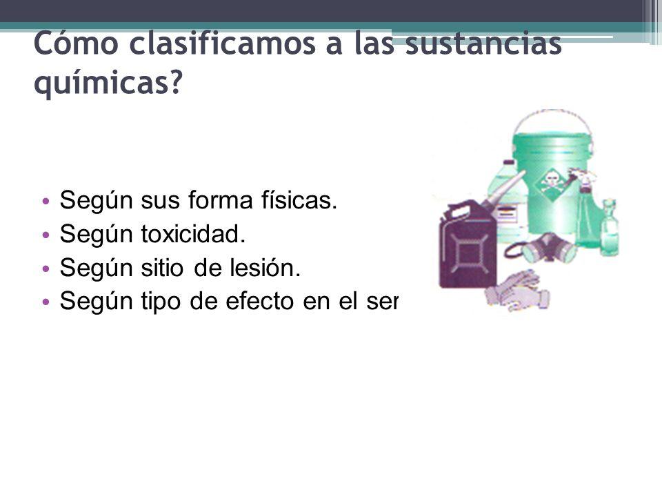 Cómo clasificamos a las sustancias químicas