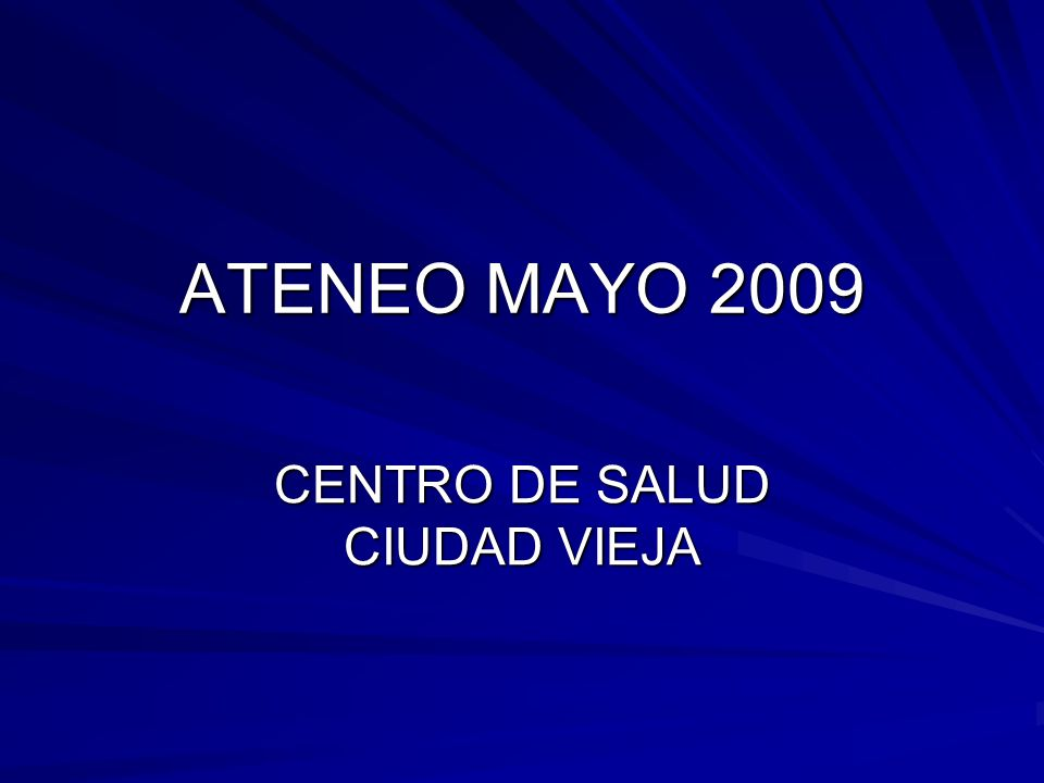 CENTRO DE SALUD CIUDAD VIEJA