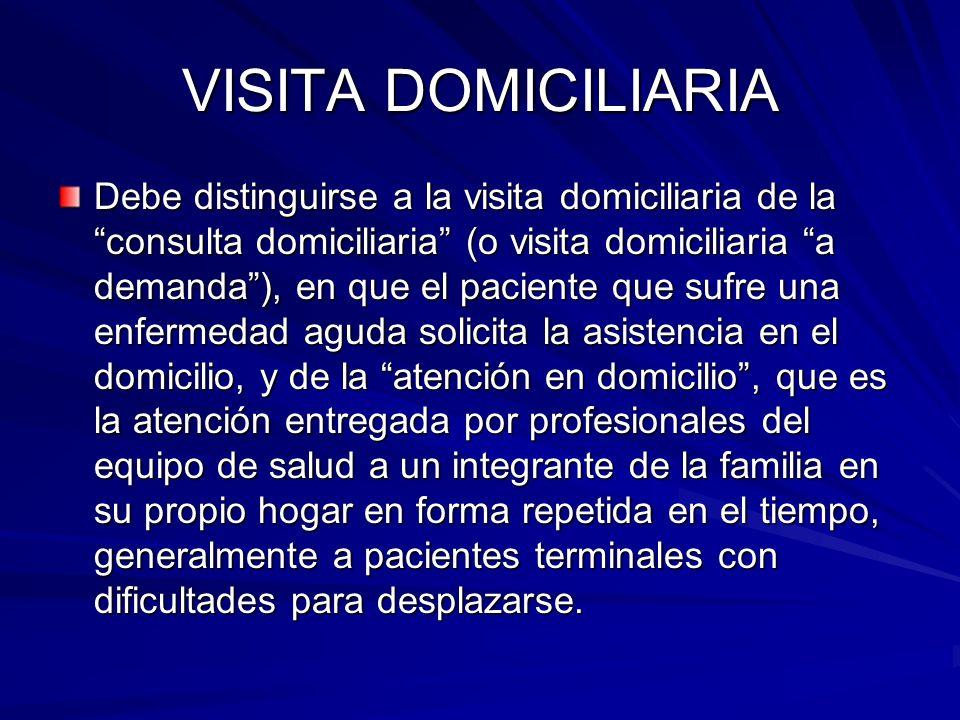 VISITA DOMICILIARIA