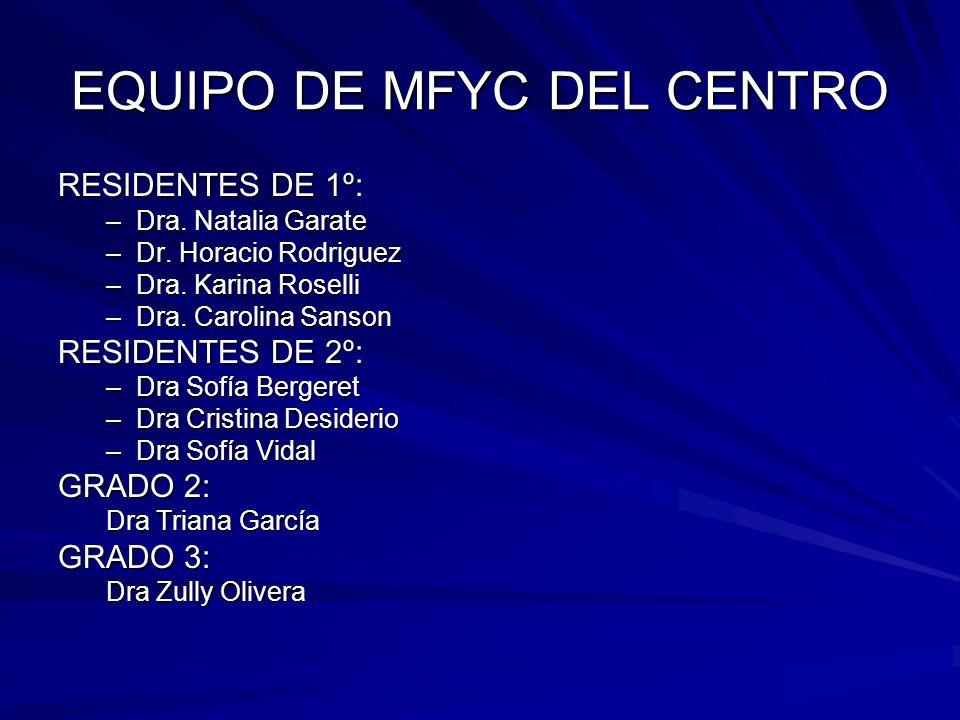 EQUIPO DE MFYC DEL CENTRO