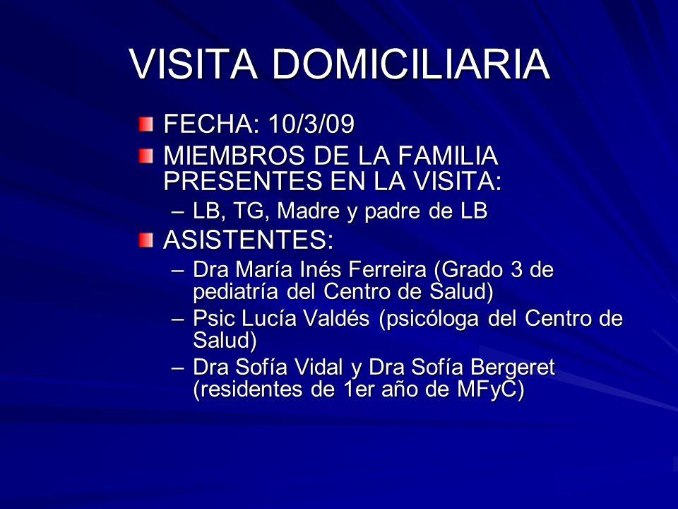 VISITA DOMICILIARIA FECHA: 10/3/09