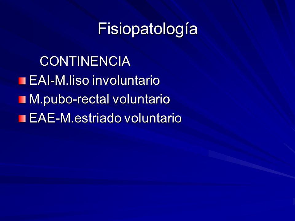 Fisiopatología CONTINENCIA EAI-M.liso involuntario