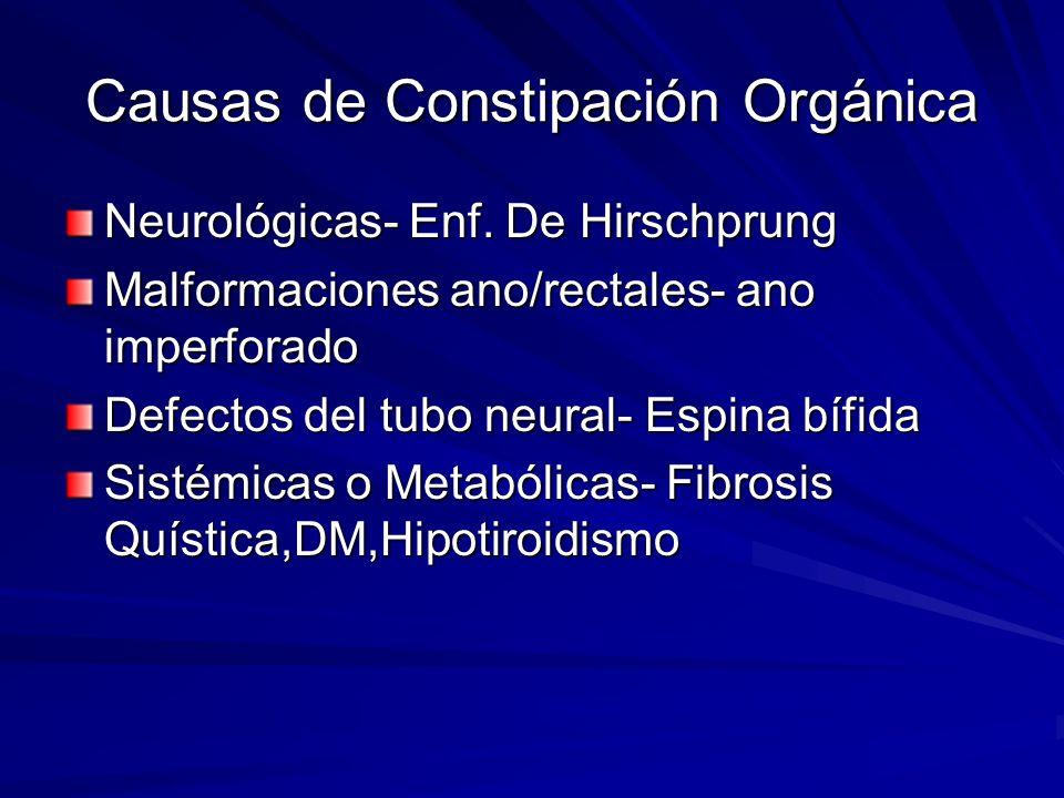 Causas de Constipación Orgánica