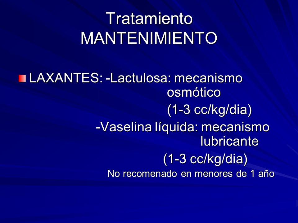 Tratamiento MANTENIMIENTO