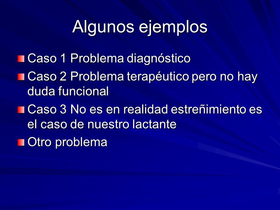 Algunos ejemplos Caso 1 Problema diagnóstico