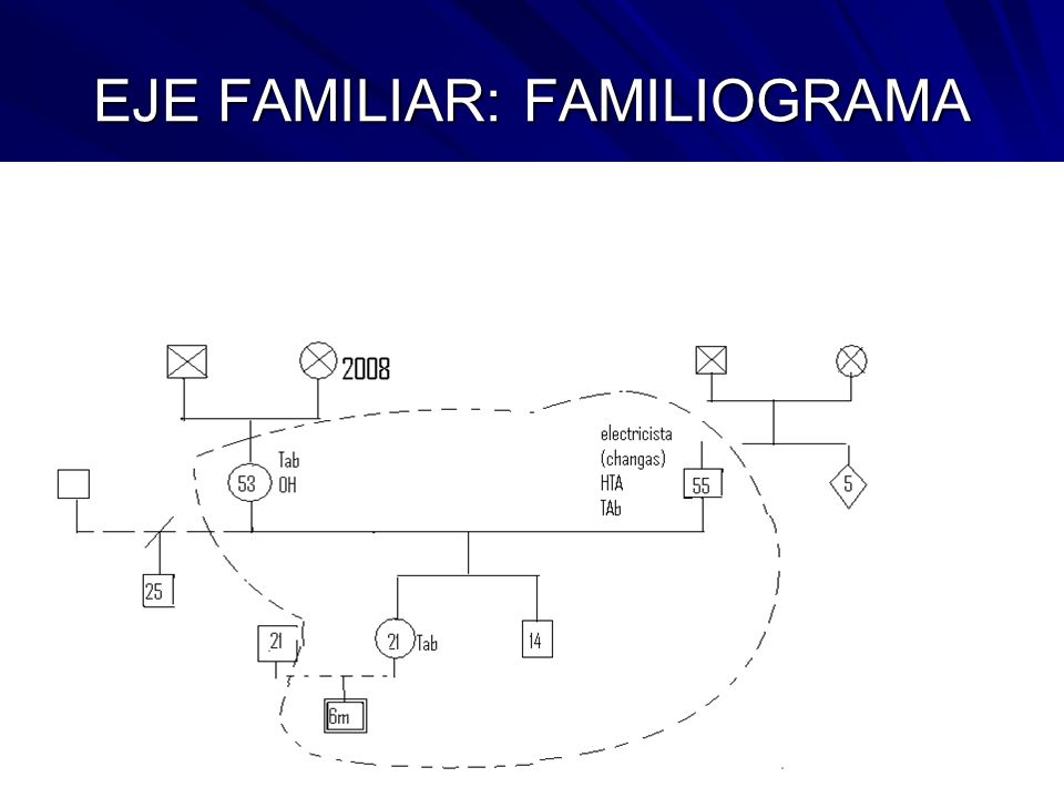 EJE FAMILIAR: FAMILIOGRAMA