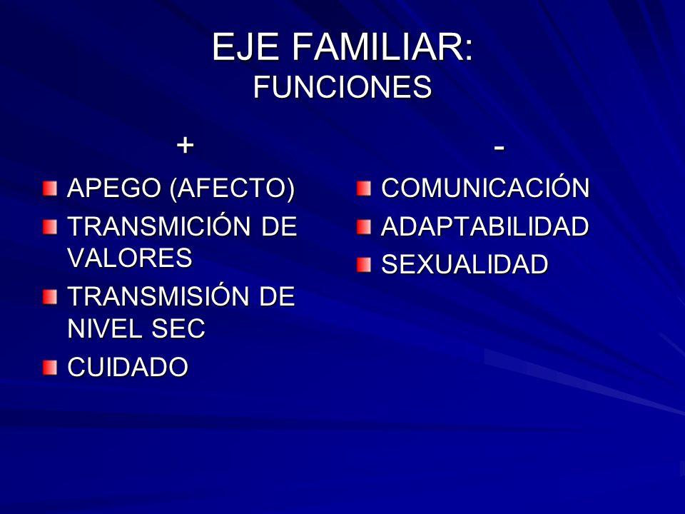 EJE FAMILIAR: FUNCIONES