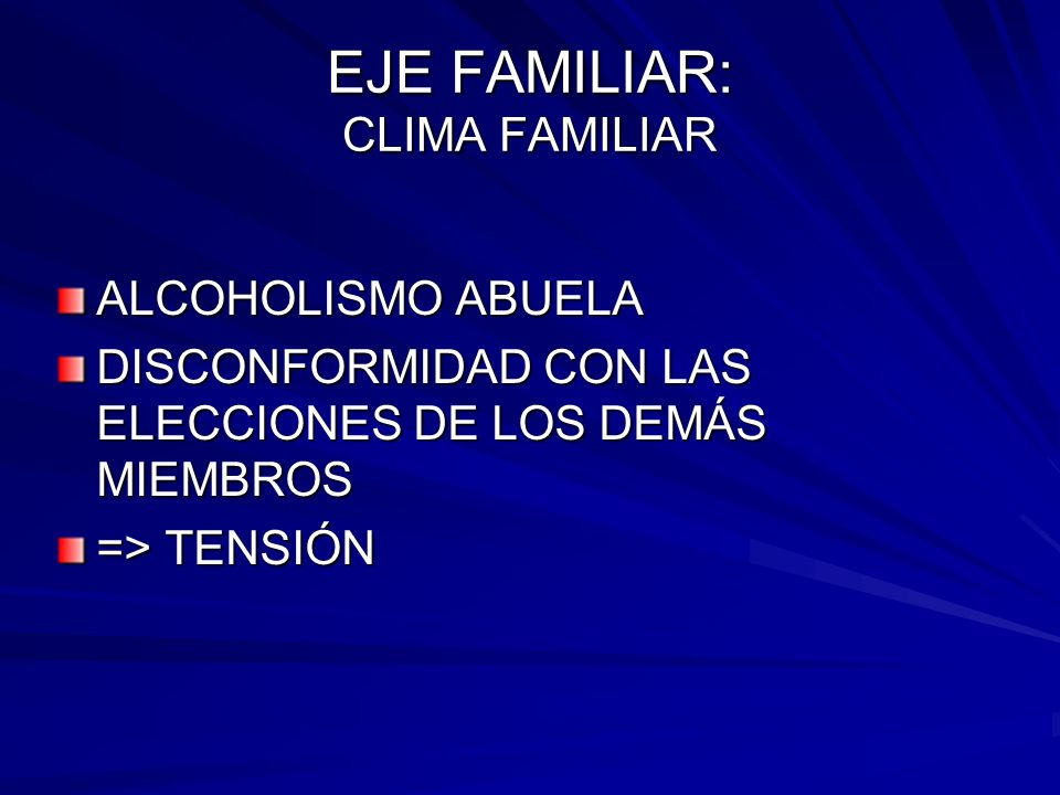 EJE FAMILIAR: CLIMA FAMILIAR