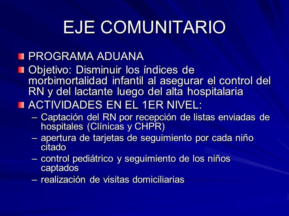 EJE COMUNITARIO PROGRAMA ADUANA
