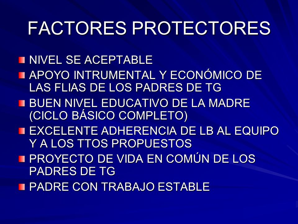 FACTORES PROTECTORES NIVEL SE ACEPTABLE