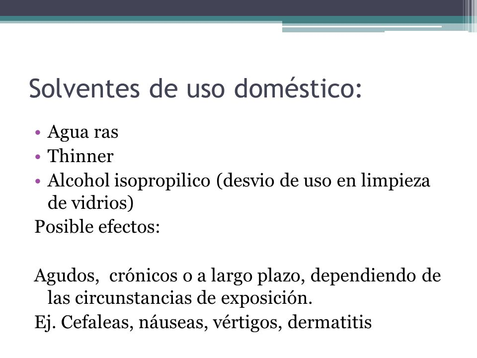 Solventes de uso doméstico: