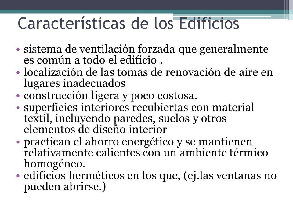 Características de los Edificios