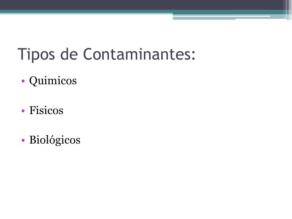 Tipos de Contaminantes: