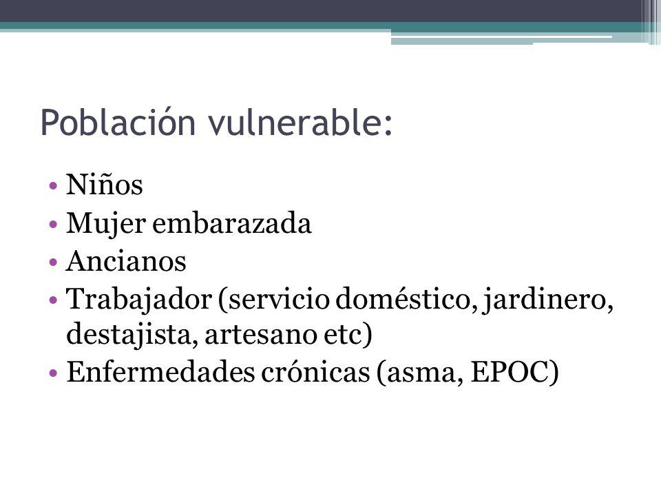 Población vulnerable: