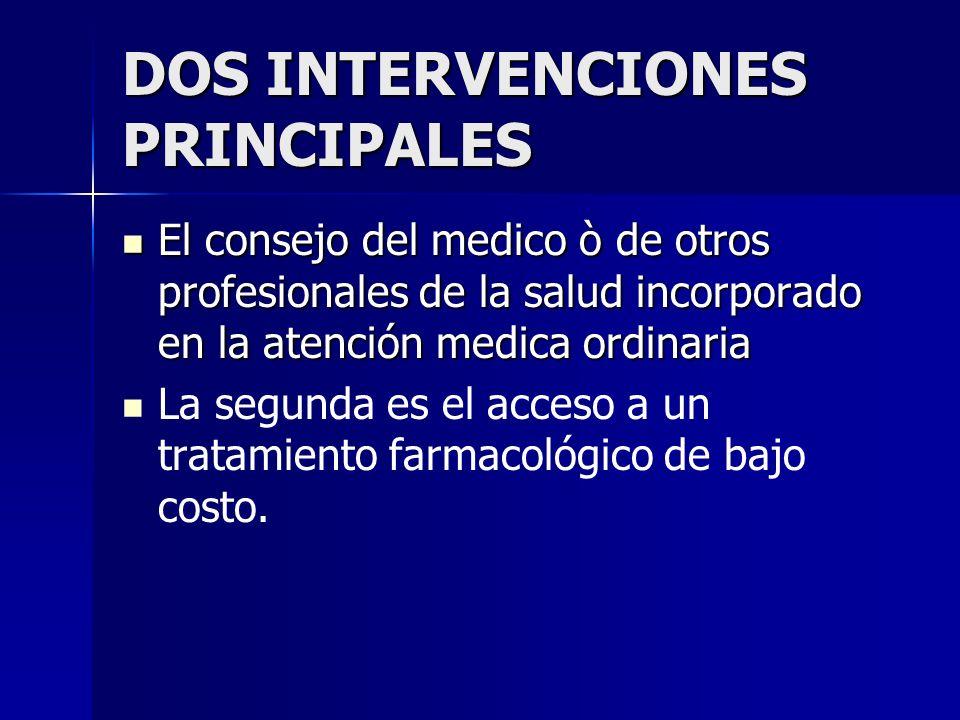 DOS INTERVENCIONES PRINCIPALES