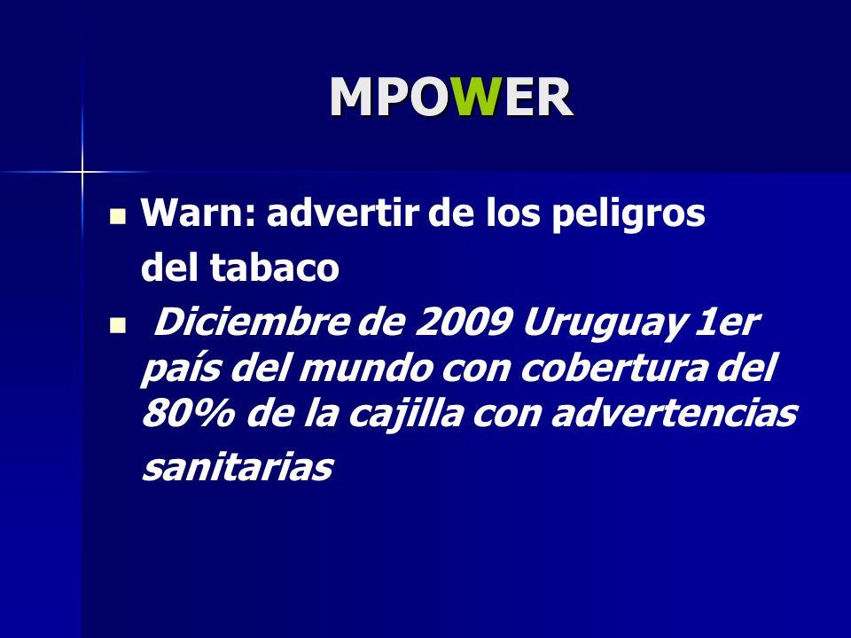 MPOWER Warn: advertir de los peligros del tabaco