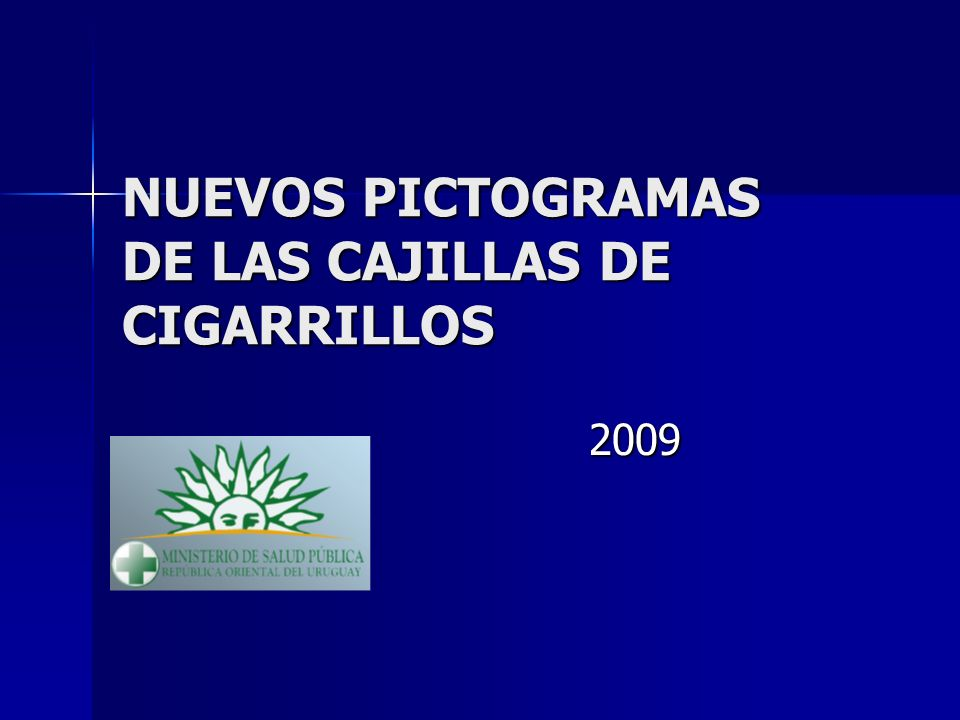 NUEVOS PICTOGRAMAS DE LAS CAJILLAS DE CIGARRILLOS