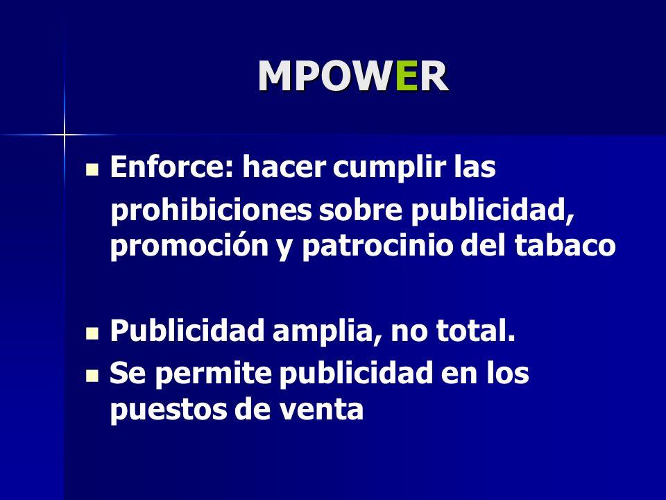 MPOWER Enforce: hacer cumplir las