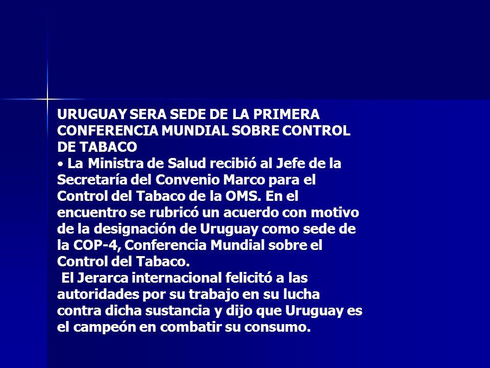URUGUAY SERA SEDE DE LA PRIMERA