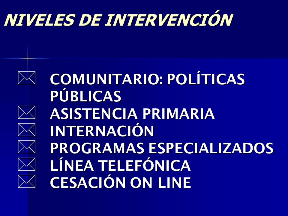 NIVELES DE INTERVENCIÓN
