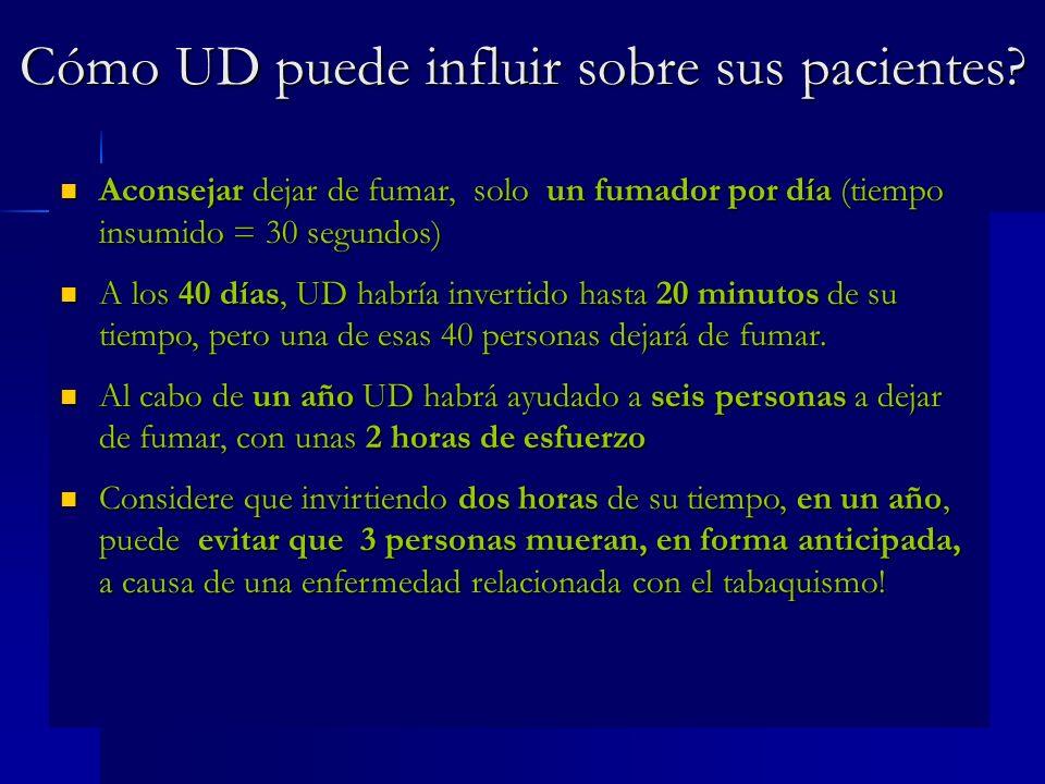 Cómo UD puede influir sobre sus pacientes