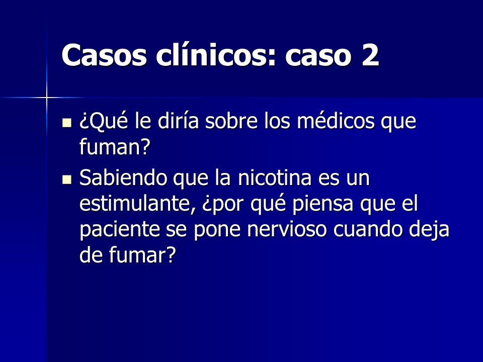 Casos clínicos: caso 2 ¿Qué le diría sobre los médicos que fuman