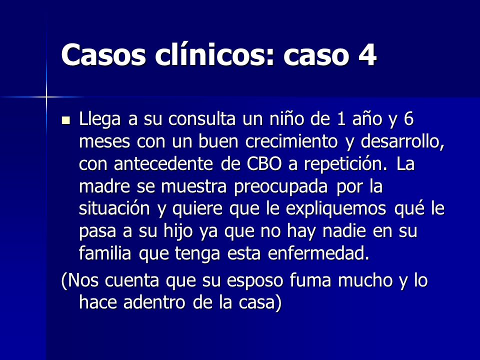 Casos clínicos: caso 4