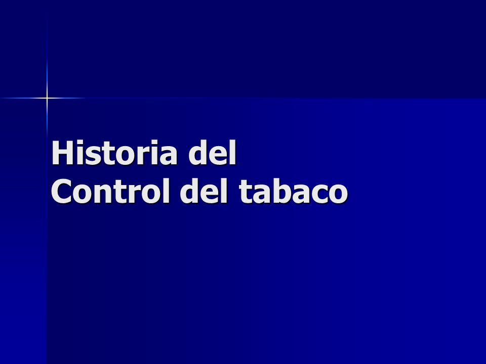 Historia del Control del tabaco