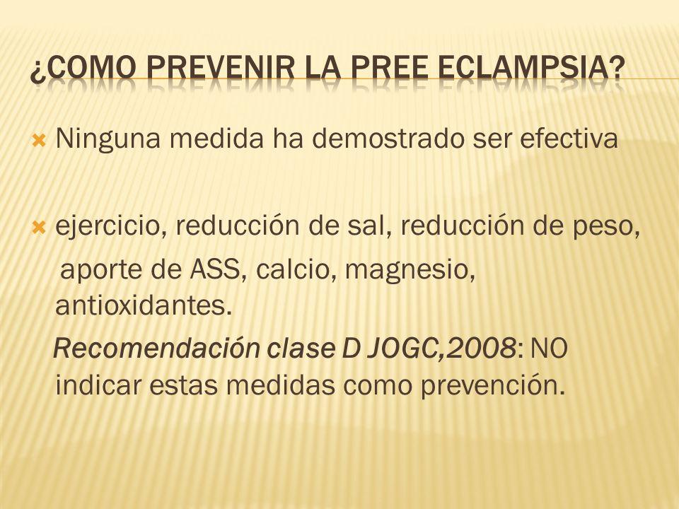 ¿Como prevenir la pree eclampsia