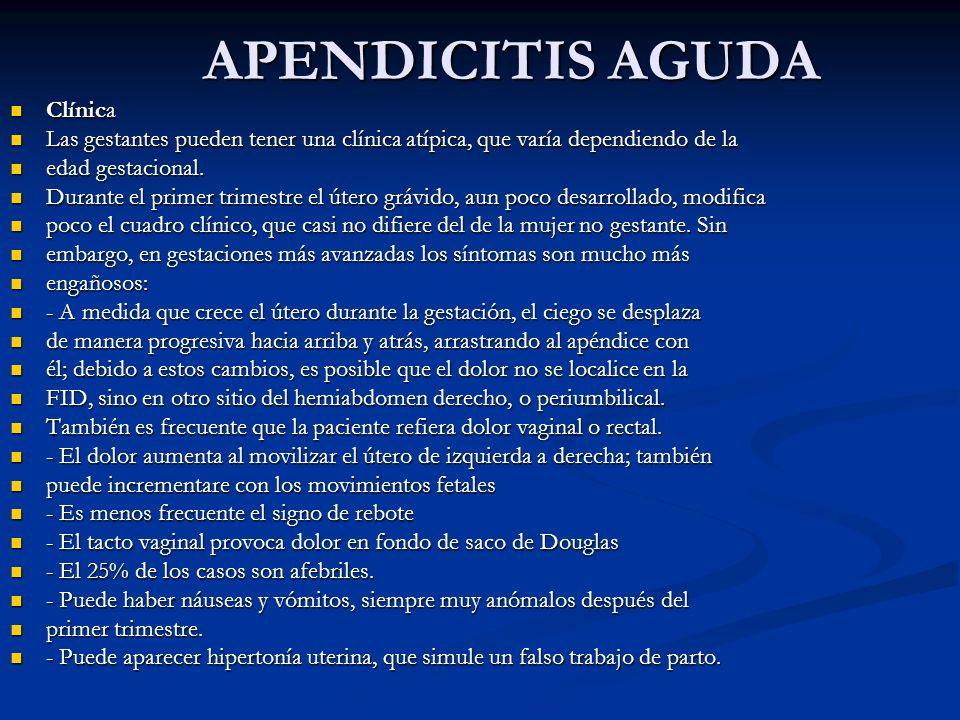 APENDICITIS AGUDA Clínica