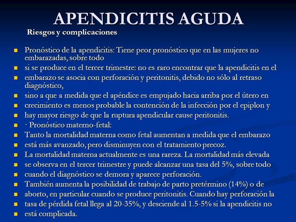 APENDICITIS AGUDA Riesgos y complicaciones