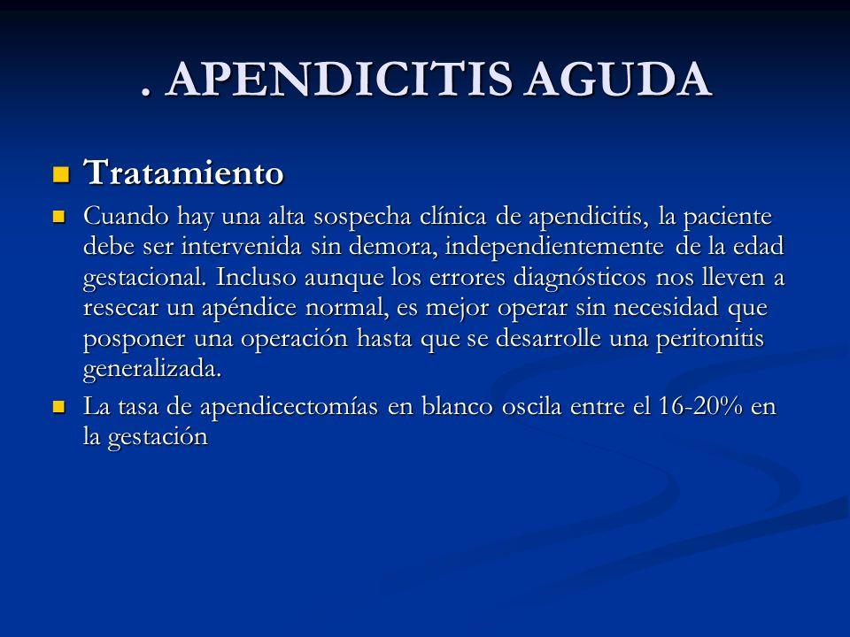 . APENDICITIS AGUDA Tratamiento