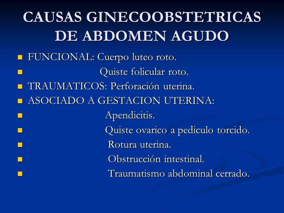 CAUSAS GINECOOBSTETRICAS DE ABDOMEN AGUDO