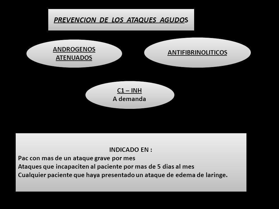 PREVENCION DE LOS ATAQUES AGUDOS